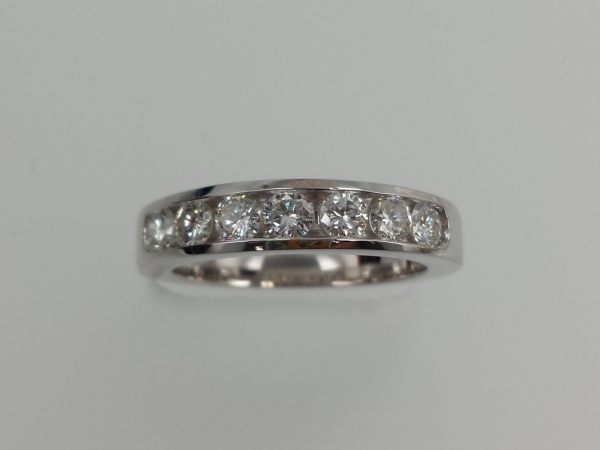 14k White Gold, Channel-set by Wallach Custom Designs