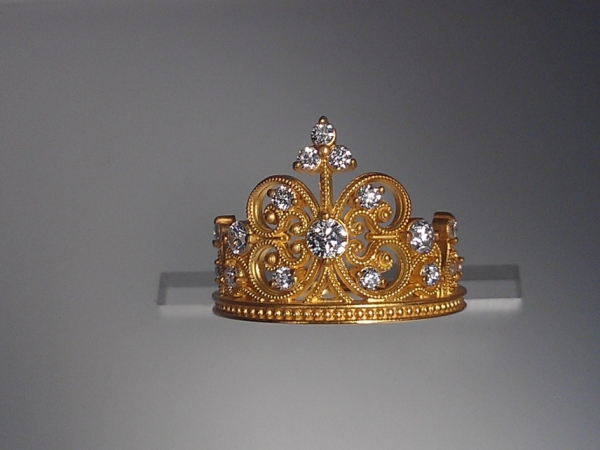 18k Yellow Gold Crown  by Norman Covan