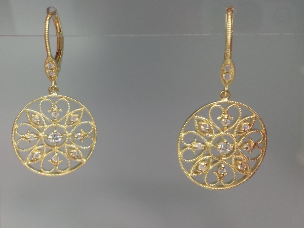 14k Antique Style Drops by Meira T.