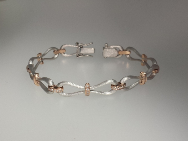 Mix Metal Pinched Bracelet by Makur