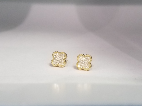 Diamond Clover Earrings by Madison L