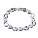 Silver Loops & Blue Topaz by Zina Sterling
