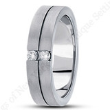 Mens Diamond Band by Unique Settings